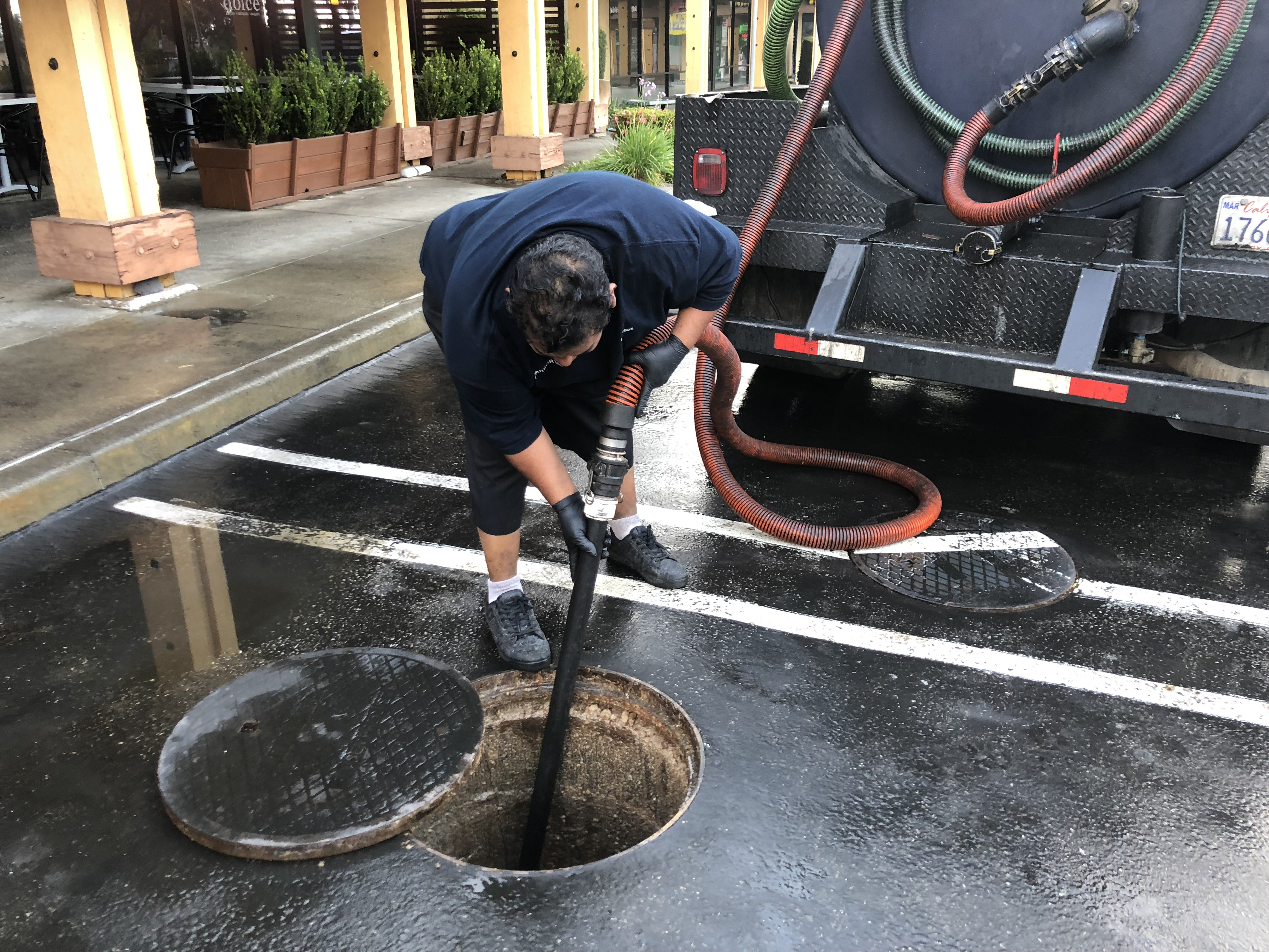 Grease Interceptor Cleaning Service. Outdoo grease trap pumping service for restaurants.